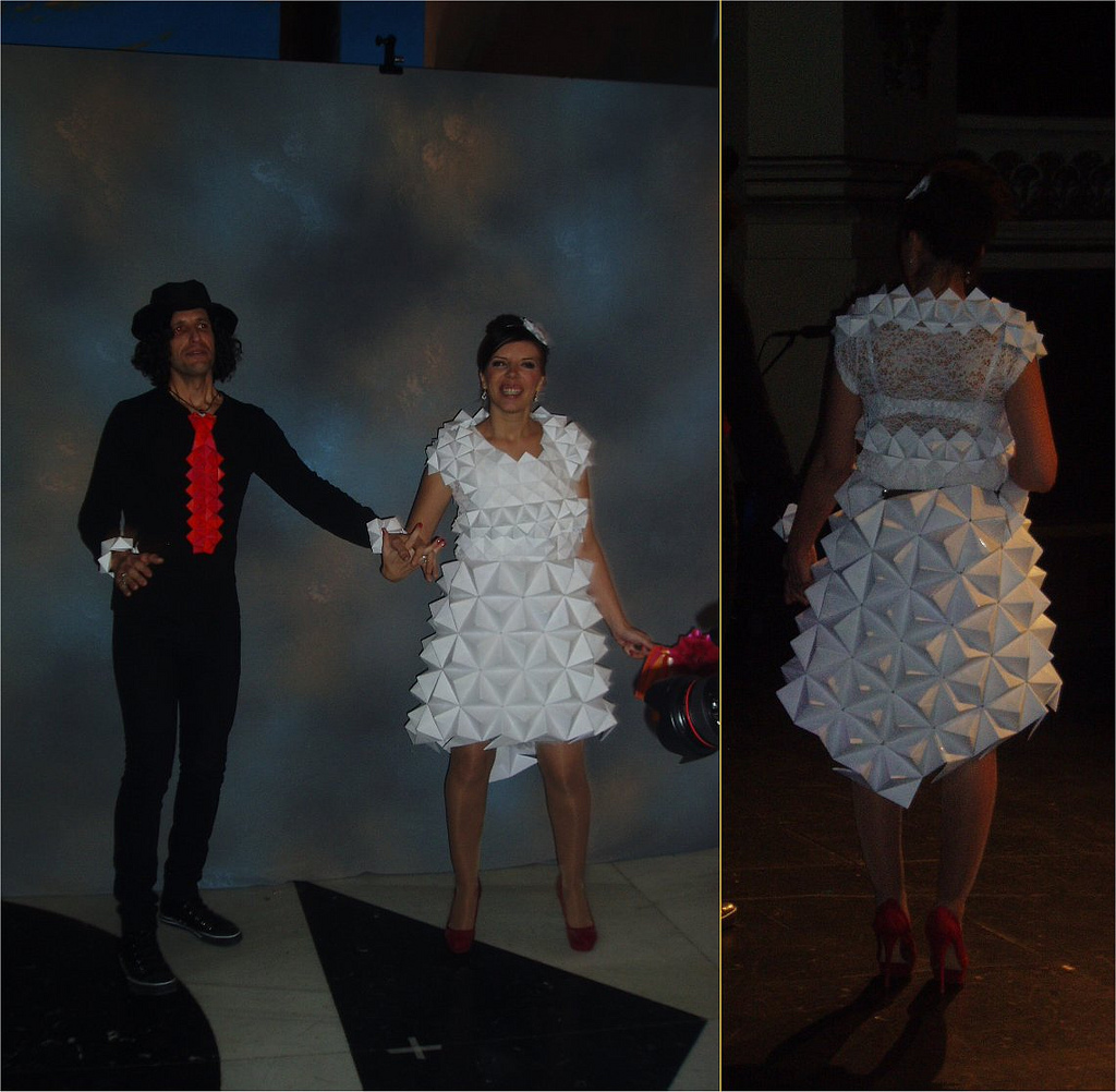 Vestido de novia de material reciclado